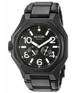 "NWT Nixon Men's A3971042-00 ""Tangent"" Swiss Quartz Black Watch - $247.45"