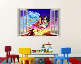 Aladdin Genie carpet Jasmine 3D Window Decal WALL STICKER Home Decor Art... - $6.92+