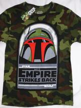 Star Wars Boba Fett Bounty Hunter Camouflage Empire Strikes Back T-Shirt S - $19.75