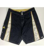 "Rusty Mens 36"" Swim Trunks Board Shorts 9"" Inseam Button Snap Navy Blue ... - $23.38"