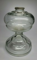 Antique Clear Art Glass Kerosene Oil Lamp Pedestal Font Beauty! No Burne... - $24.99