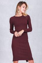 2017 Elegant Split Knitted Bodycon Dress Long Sleeve Sexy Dresses Midi D... - $37.99