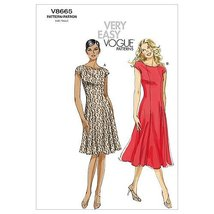 VOGUE PATTERNS V8665 Misses' Petite Dress, Size BB (8-10-12-14) - $19.99