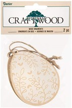 Darice Easter Craft - DIY Laser VineDesign Wood Egg Ornaments 2pc - $8.95
