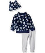 NWT Gerber Baby Boy 3-Piece Sports Themed Micro Fleece Top, Pant and Cap... - $11.95