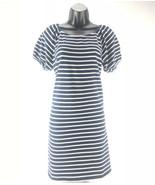 Ann Taylor Loft Navy Blue White Striped Short Sleeve Dress Size Small Co... - $13.44