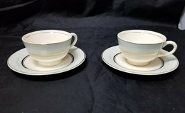 The French Saxon China Co Tea Cup & Saucer Set of 2, 22kt Gold, Pottery ... - $17.41