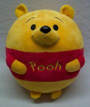 "TY Beanie Ballz CUTE WINNIE THE POOH BEAR BALL 8"" Plush STUFFED ANIMAL Toy - $18.32"