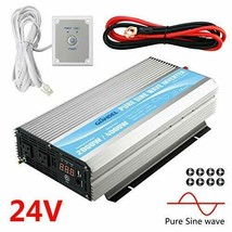Giandel 2000W Pure Sine Wave Power Inverter DC 24V to AC120V with Dual A... - $368.02