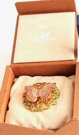 Primary image for Swarovski ~ 2002 Beauty - Butterfly Brooch Pin ~ Mint With Box