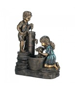 Decorative Outdoor Fountains Doggy Wash Standing Fountain Outdoor Patio - $259.37