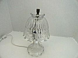 "Retired Princess House Heritage 2 PC 24% Lead Crystal Romance Boudoir Lamp 11""  - $34.65"