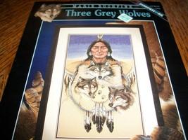 Dimensions~Three Grey Wolves Cross Stitch Chart 306 - $10.00
