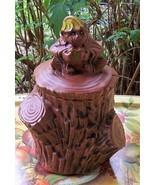 Rare Vintage Mid Century McCoy Monkey on Stump Cookie Jar - $49.49