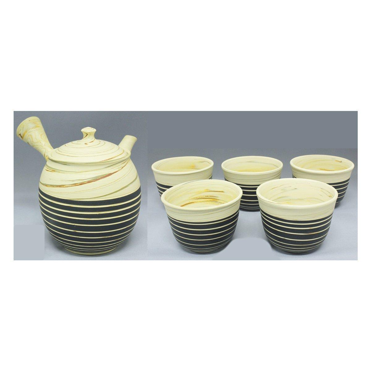 TOKYO MATCHA SELECTION - Tokoname Pottery Kyusu Teaset : KENJI - 1pot, 5yunom... - $272.24