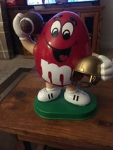 M&M's Red Football-themed Candy Dispenser 1995 Collectible - $9.89