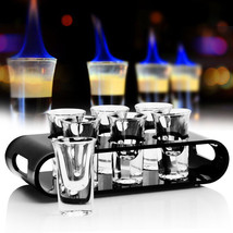 SIZE STRAIGHT  26ML or 40ML Wooden Bezel Cocktail Cup Bullets cup holder... - $52.24+