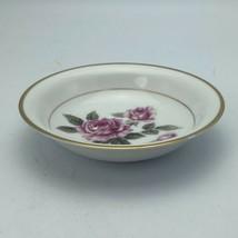 Noritake Lindrose Pink Rose Floral 5234 Fruit Berry Bowl Gold  Japan - $7.43