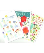 Thank You Greeting Cards Wishes Blessing Bird & Flowers Lot of 3 Trader ... - $14.80