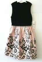 Rare Editions Robe Fille Noir Manche Taille 16 Strass sans Manche Neuf K... - $48.50