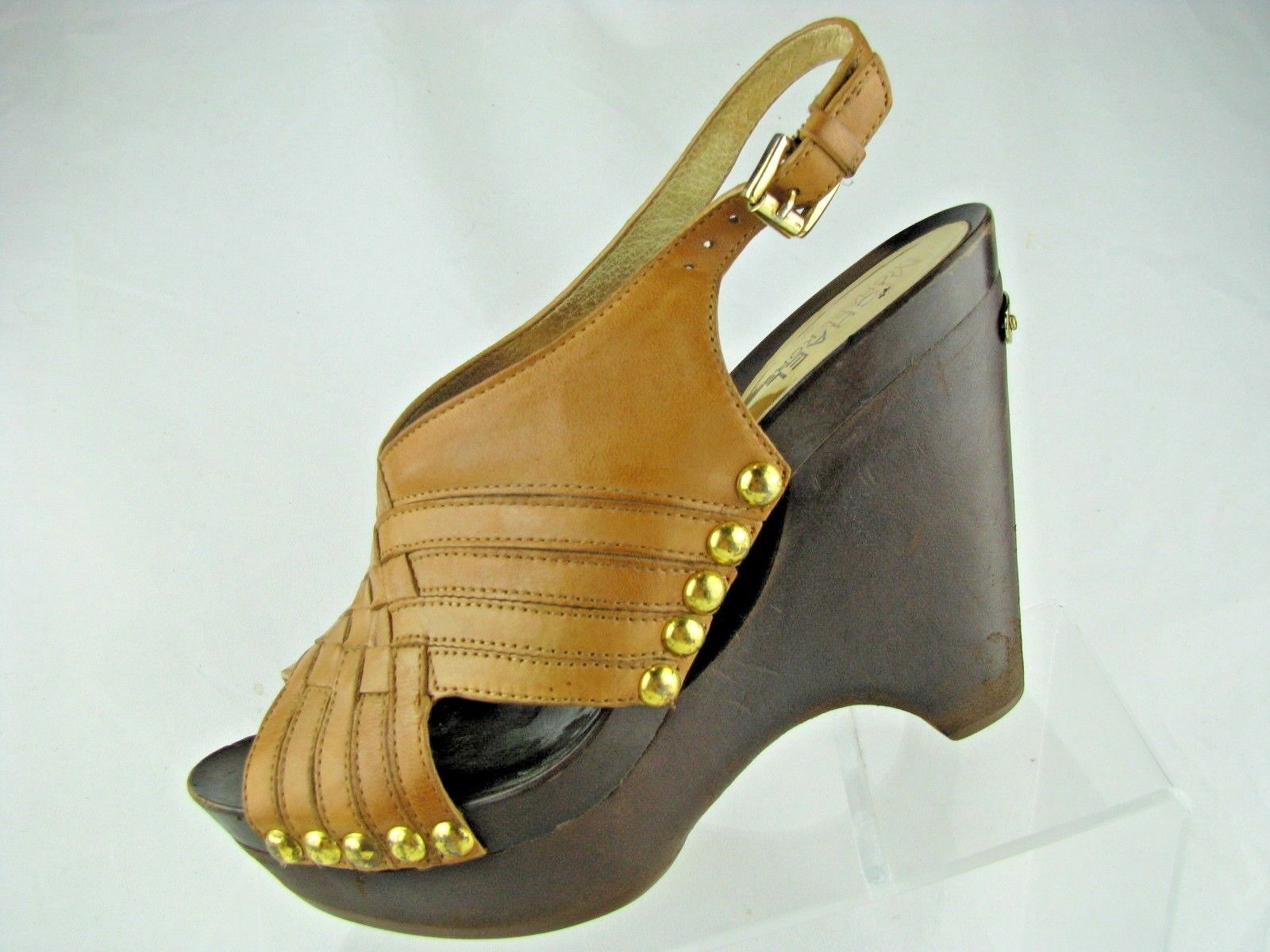 71439ca82db Michael Kors..Tan Leather..Platform Clogs and 50 similar items