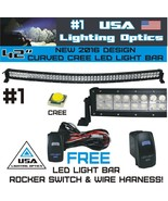 #1 42 inch Curved 240W CREE LED Light Bar by USA Lighting Optic spot flo... - $115.78