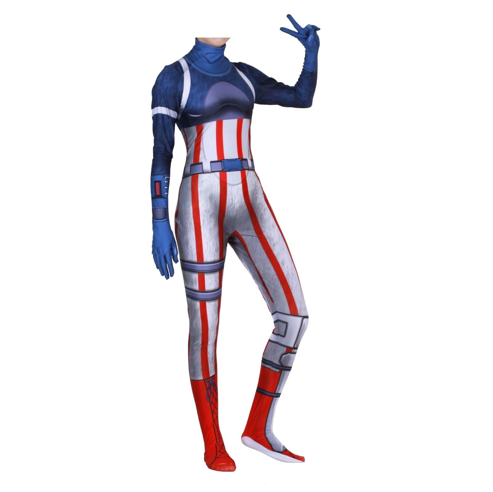 Game fortnite team leader jumpsuit cosplay costume panda tight 3d point suit new unisex - Panda team leader costume ...