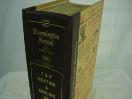 1985 Polk's City Business Directory Bloomington Normal Illinois Advertising - $27.71