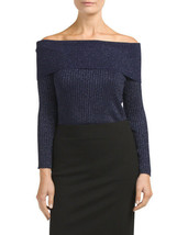New Cable & Gauge Womens Off the shoulder Sweater top Orig.$60 Sz Large - $17.03