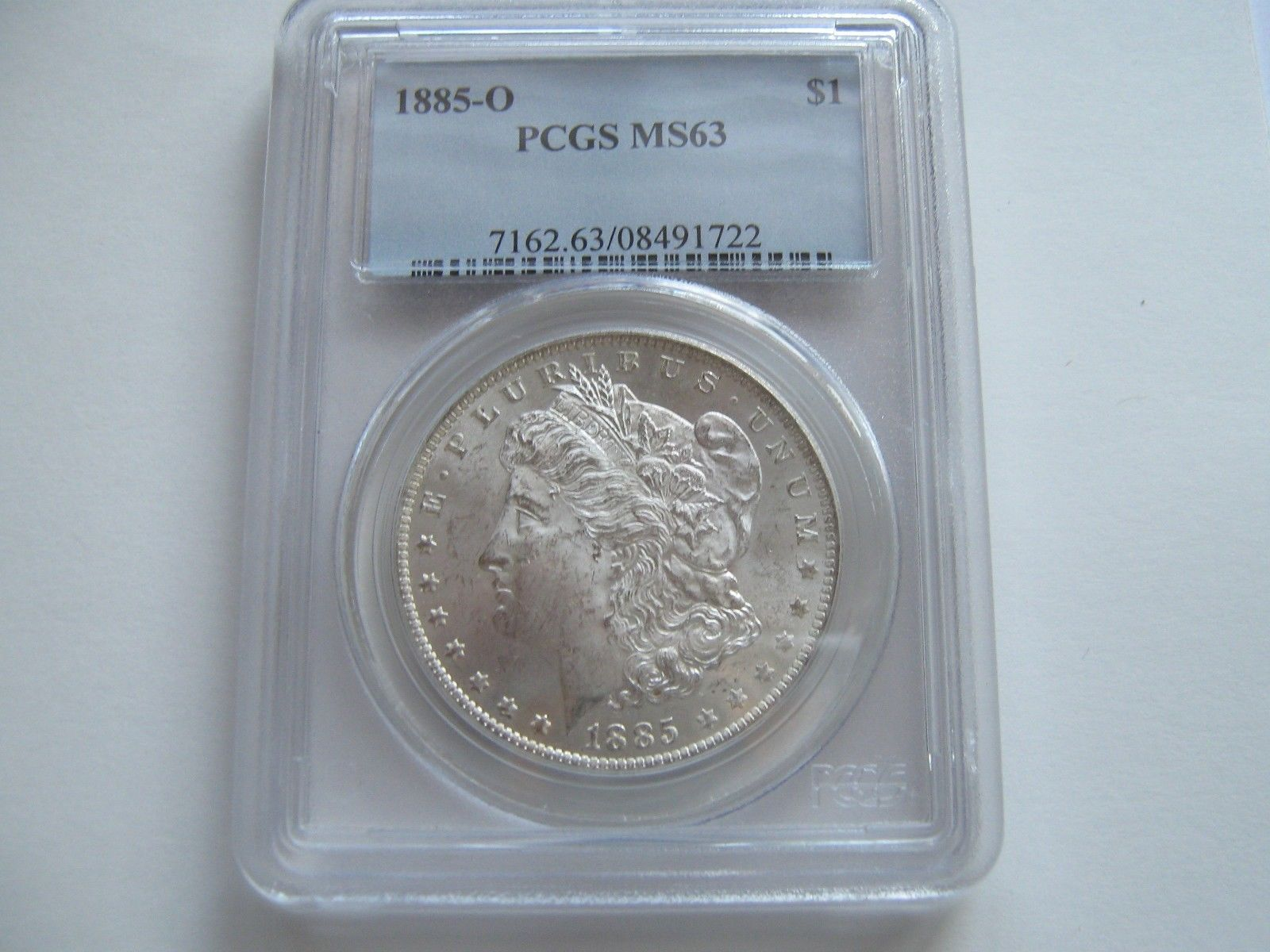 1885-O , Morgan Silver Dollar , PCGS , MS 63 - $80.00