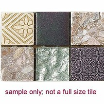 Intrend Tile HC005-A-sample Hand Colored Stone and Glass Mosaic Blend Tile Sheet