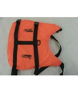 Dog Life vest Aqua dog Orange Size Small - $6.92