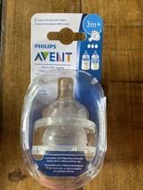 Philips Avent 2 Medium Flow Anti-Colic Baby Bottle Nipples 3m+ - $4.55