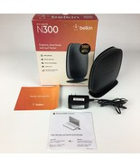 Belkin N300 300 Mbps 4-Port LAN 10/100 Wi-Fi N Router F9K1002v4 Wireless... - $9.95