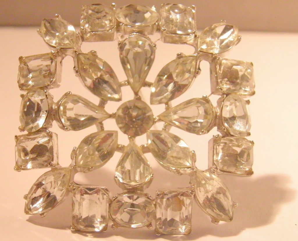 Substantial Crystal Clear Pear Round Emerald Rhinestones Square 2851