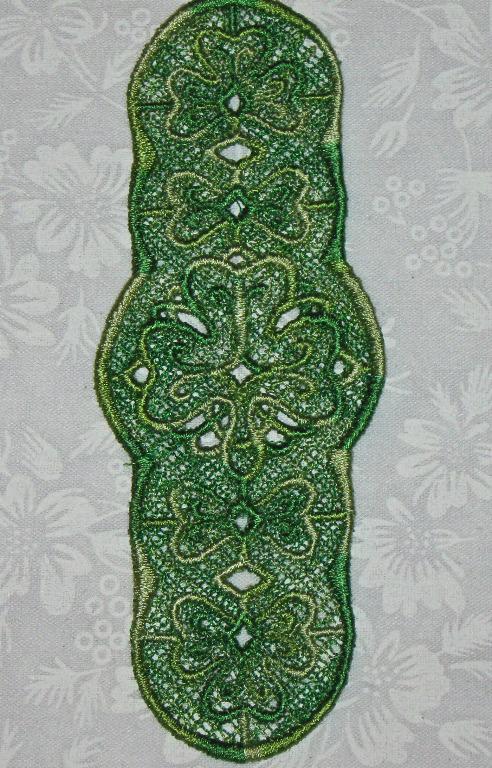 Multi green shamrock bookmark 1