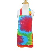 Childs Tie Dye Unisex Full Apron Rainbow Colored Handmade - €17,73 EUR