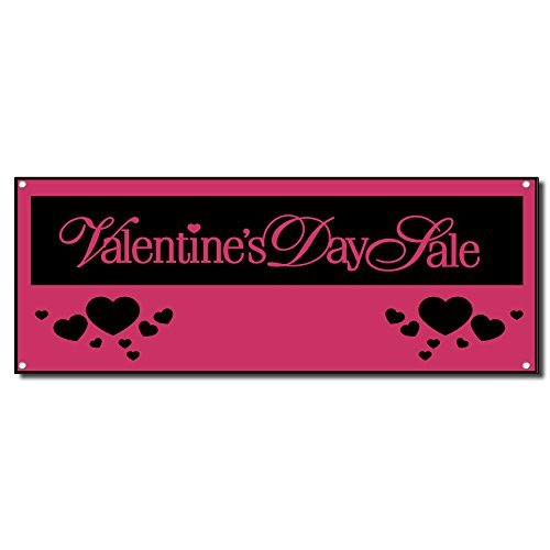 Valentines Day Sale Vinyl Banner Sign w/Grommets 3 ft x 6 ft