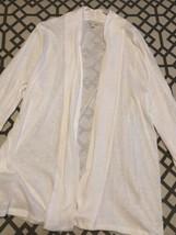 Medium Women's Talbots Cardigan White Pre-owned Smoke /pet Free Home - $7.78