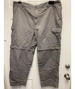 Cabelas Men's Convertible Nylon Pants/Shorts Fishing Hiking 40 x 30Gray - $21.77