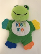 KIDGETS GREEN FROG BABY LOVEY TOY STUFFED PLUSH TEETHER Doll KISS ME - $14.99