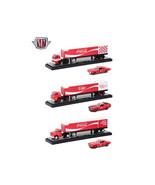 Auto Haulers Coca-Cola Release, 3 Trucks and Cars Set 1/64 Diecast Model... - $102.94
