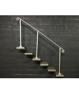 6 Foot Aluminum Stair Handrail | Base Plate Posts | Aluminum Grab Railing - $255.00