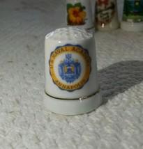 Vintage  Porcelain /Fine China Souvenir Thimble Naval academy e68 - $4.99