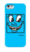 Case Scenario Keith Haring Blue Smiling Face Iphone 5/5s Hard Snap case Cover NW