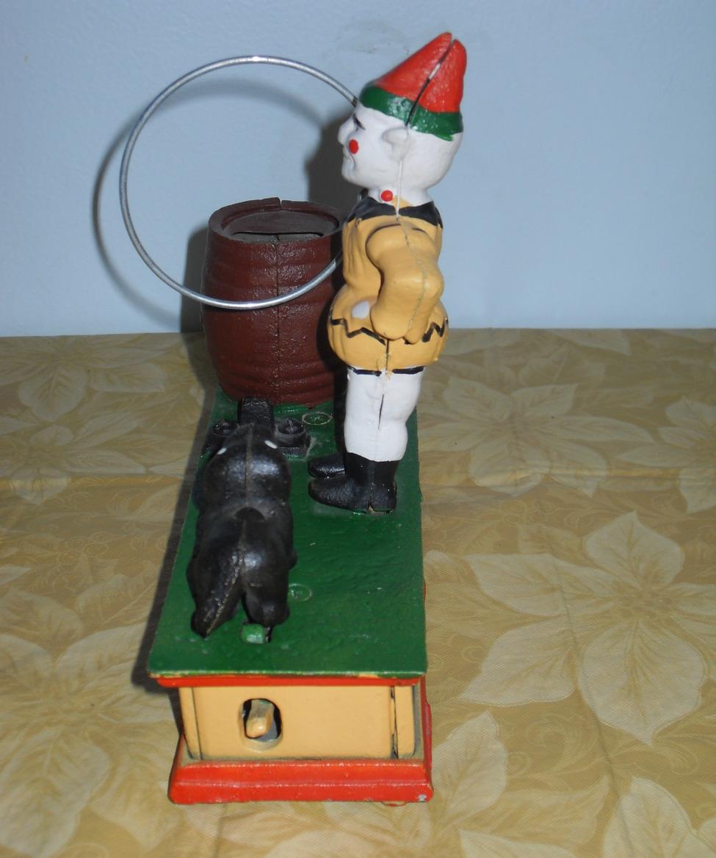 Vintage Trick Dog Cast Iron Mechanical Bank