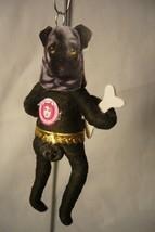 Vintage Inspired Spun Cotton Pug Dog Ornament image 2