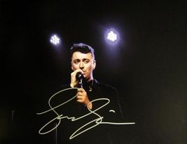 SAM SMITH HAND SIGNED AUTOGRAPHED LARGE 11X14 PHOTO w/COA STAY WITH ME - $69.99