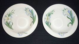 Syracuse China Soup Cereal Bowls Lily Flower Lot of 2 - $12.95
