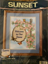 Sunset Designs Welcome Sign Cross Stitch Kit 13104 - $12.20